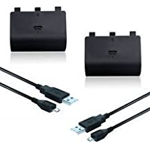 Batterie rechargeable 2400mAh GamerPro 2X Xbox One + câble play and charge 2 mètres X2