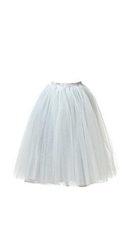 Honeystore Damen's Lang Ballet Petticoat Abschlussball Party Zubehör Tutu Unterkleid Rock Grau XL (29 Diy Halloween Kostüme)