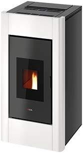 CADEL Idro Prince 30 kW Pelletofen wasserführend Ofen Pellet Kamin Auswahl-Idro-Prince30 Metall-Weiss