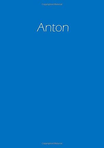 Notizbuch - Anton: DIN A4 - blanko