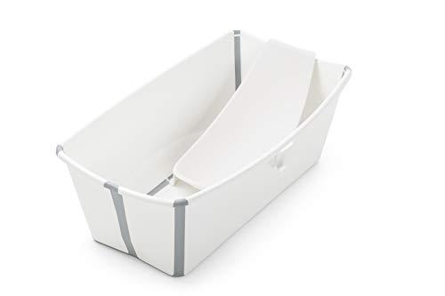Stokke Flexi Bath Bundle - Kombination aus Badewanne für Babys, Kleinkinder & Kinder & einem Newborn Support - Farbe: White