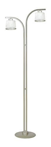 Beige Glasschirm (Stehlampe Glasschirm Beige Weiß H:160cm 2x E27 Alabaster Glas Klassisch Wohnzimmerlampe Stehleuchte)