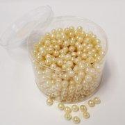 Perlen champagner in zwei Größen 300g Größe 14 mm