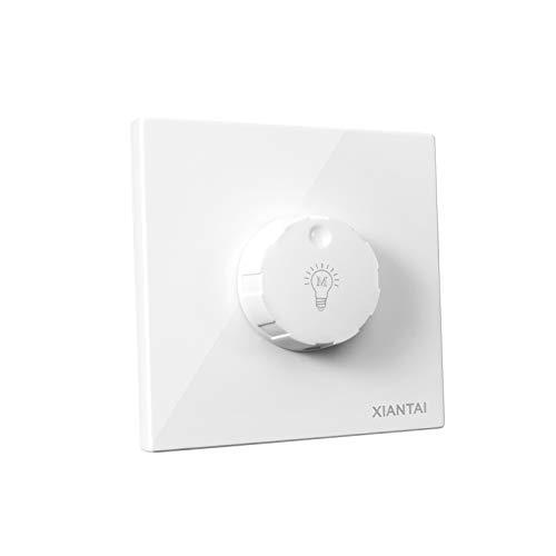 ETiME LED Dimmer 85-265V AC, bis 300W Dimmschalter Drehdimmer Stufenloser Helligkeitsregler für die meisten dimmbar LED- und Halogen-Lampen auch für herkömmliche Leuchtmittel (Dimmer)
