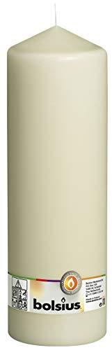 Bolsius Stumpenkerze, für Innen- und Außenbereich, 300x ⌀98 mm, elfenbein