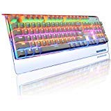 Reetec Rainbow Backlit 104 Keys Waterproof USB Wired Mechanical PC Gaming Computer Keyboard