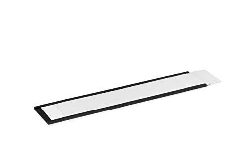 Durable 171258 Magnetische C-Profile inkl. Etiketten, 200 x 40 mm (B x H), 5 Stück, anthrazit