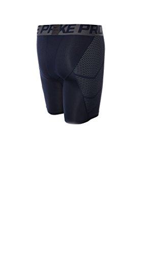 Nike HYPERCOOL 6Short Herren Shorts Azul Marino (Obsidian / Dark Grey / Dark Grey)