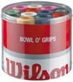 Wilson Overgrip Bowl 50er Pack, grün, gelb, lila, pink, orange, weiß und schwarz, Z4710