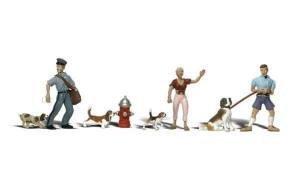 Spur 0 -- Figuren mit Hunden -