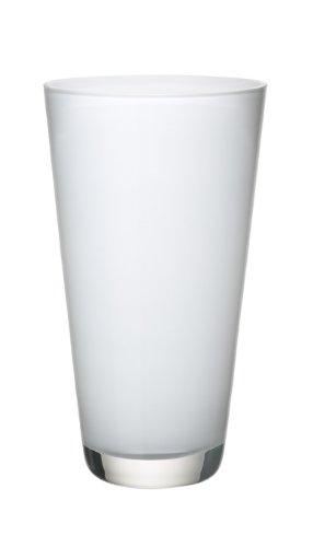 Villeroy & Boch Verso Kleine Vase Arctic Breeze, 25 cm, Glas, Weiß