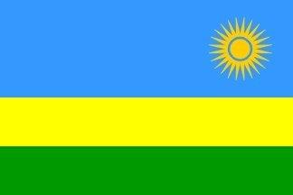 Drapeau du Rwanda - 150 cm x 90 cm