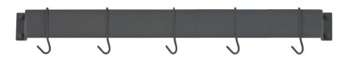 Cuisinart CRBW-33MBK Chef's Classic 33-Inch Bar-Style Wall-Mount Pot Rack, Matte Black