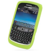 PDair Blackberry Curve 8900 Javelin Silikonhülle (Grün), Ganzkörper-Schutz-Soft-Rubber-Haut Slim Fitted Cover, Mode Luxus-Silikon-Etui für, Telefonkasten Cover Blackberry Javelin