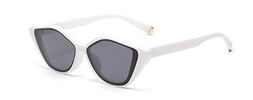 Kuletieas vintage sonnenbrille frauen cat eye schwarz weißer leopard weibliche sonnenbrille für männer kleine größe uv400 @ weiß mit schwarz