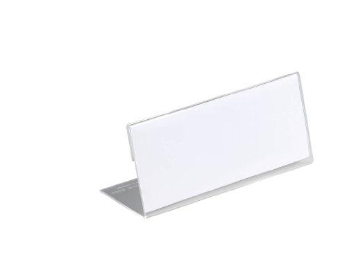 Durable 805419 Tischnamensschild aus Acryl, 61 x 150 mm, transparent, Packung à 10 - Seminar Tische