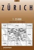 Swisstopo 1 : 25 000 Zürich (Zürich Karte)
