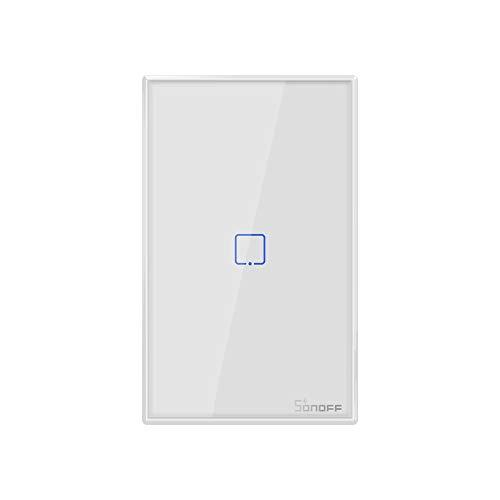 SONOFF T0US1C Interruttore Intelligente Luce Wireless WiFi da Muro, Interruttore a 1 Canale per Soluzioni di Automazione della Casa Intelligente, è Compatibile con Alexa, Google Home