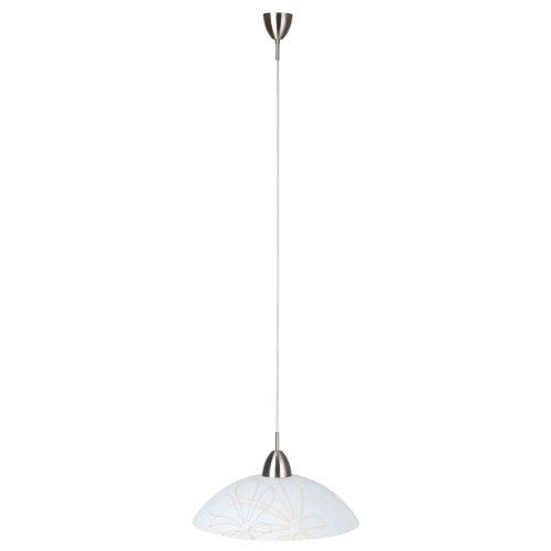 Preisvergleich Produktbild Brilliant Lio Pendelleuchte, 1-flammig, 1x E27 max. 53 W, Metall / Glas, eisen / braun-beige deko 67270/70