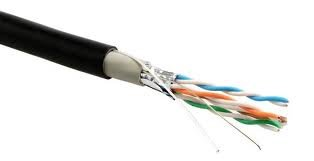 Image of Multi-cable Networking Cat5E outdoor Ethernet Cable with RJ-45 Plug - FTP - CCA - Black - (30 meter)