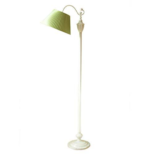 Lampadaire Lampadaire Élégant En Fer Forgé Lampe De Table Home Living Floor Lighting Lampadaire De Chambre À Coucher De Personnalité Lampe De Plancher De Pièce D'étude (Color : Green)