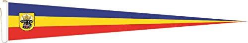 Haute Qualité pour U24 Long Fanion Mecklembourg avec Ochsenkopf Drapeau 250 x 40 cm