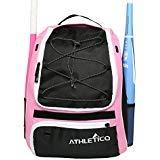 Athletico Softball Schläger Tasche - Rucksack für Softball, Baseball, & T Ausstattung und Gear für Kinder, Jugend, und hält, Erwachsene | Bat, Helm, Handschuh, & Schuhe | separates Schuhfach, rose (Softball-tasche Rosa)