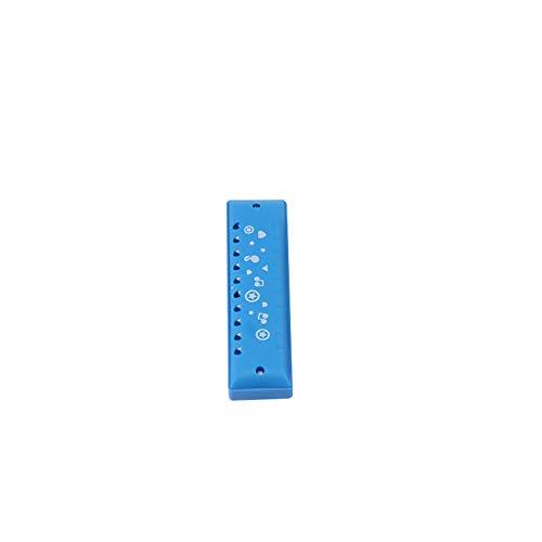 Romote 10 Löcher Harmonika-Kunststoff-Süßigkeit-Farben-Herz-Geformte Löcher Harmonika Educational Musikinstrument Spielen Spielzeug Mundharmonika Für Kinder Kinder-Blau (Süßigkeiten Herz Geformte)
