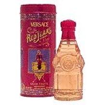 De color rojo de tela vaquera para del vestido de las mujeres por Versace - 75 ml Eau De Toilette de aerosol de la