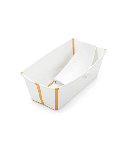 Bañera Plegable Stokke ® Flexi Bath con Soporte para recién nacido blanco/amarillo