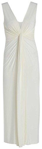Chocolate Pickle ® Femmes Twist Knot Groupe grecque Boob longue Maxi robe de soirée Crème
