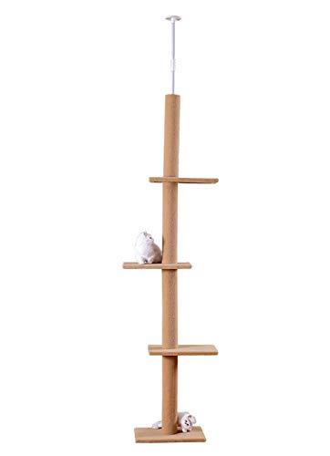 S-Lifeeling - Gioco da Arrampicata per Gatti con Struttura a Torre e rampicanti, Multistrato, Piattaforma Super Lunga e Grande