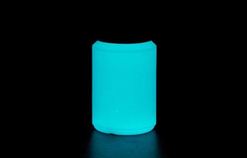 NighTec Nachtfarbe extreme Leuchtfarbe 100 ml nachleuchtende Wandfarbe (blau-grün)