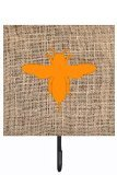 Caroline's Treasures BB1057-BL-OR-SH4 Bee Burlap and Orange Leash or Key Holder Bb1057, Small, Multicolor