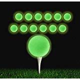 QBOSO Golfbälle, Leuchtend, langlebig, fluoreszierend, leuchtet im Dunkeln, wiederaufladbar durch Sonnenlicht oder Taschenlampe, 12 Stück