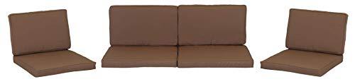 Gartenstuhl-Kissen - Amortiguador del asiento, grupo de 8 colchónes