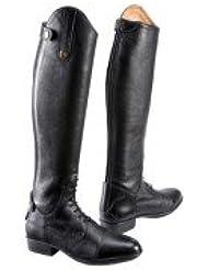 f8691b19b41 Equi-Theme - Bottes Hautes en Cuir Noir grainé Unisexe Primera 918120137 -  Noires