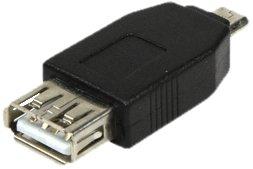 LogiLink AU0029 - Adaptador USB 2.0, Micro B macho a USB A hembra