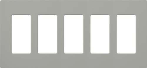 Lutron CW-5-GR Claro 5-Gang Wall Plate, Gray by Lutron - Gray Wall Plate