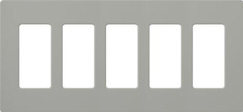Lutron CW-5-GR Claro 5-Gang Wall Plate, Gray by Lutron -