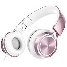 Ailihen MS300cuffie, stereo pieghevole cuffie per iPhone iPad iPod Android Smartphone di tablet pc computer Oro rosato