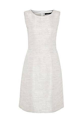 HALLHUBER Kleid aus glänzendem Strukturgewebe Etui-Schnitt, schmal geschnitten, tailliert offwhite,
