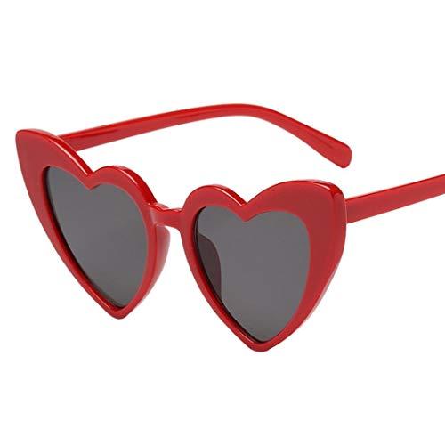 Lcxligang Sonnenbrille Damen Retro Fashion Heart-Shaped Shades Integrierte UV-Sonnenbrille Geeignet Für Outdoor-Aktivitäten (Color : C)