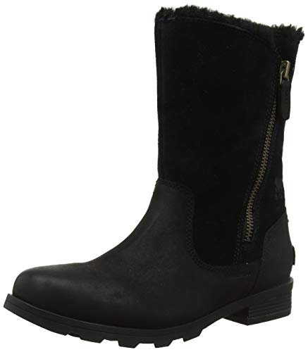 Sorel Damen Emelie Foldover Kurzschaft Stiefel, Schwarz (Black 010), 38 EU -