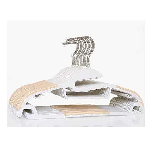 Klassische Kerbe-kragen (HY-HANGER Kunststoff-Kleiderbügel 30-er Packung Mit Platzsparenden Kleiderbügeln, Nass Und Trocken, rutschfest, 41 * 21,5 cm (Color : Apricot))
