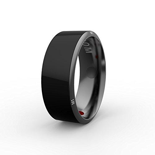 COSANSYS NFC Smart Ring R3, Wasserdicht, stoßfest und Staubdicht Ring mit Gesundheitssteinen Geeignet für Android iOS Smartphone mit NFC-Funktion, kein Akku für schnelle, kabellose Verbindung Größe (Size 7(54mm))