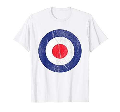 Shirt Zielscheibe Mod Bullseye British Target Schuss