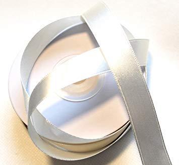 15 Creme (SATINBAND 25m x 15mm ELFENBEIN - CREME ivory Schleifenband Geschenkband DEKOBAND)