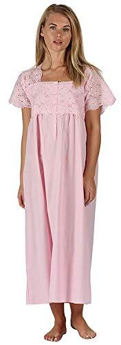 Kurzarm-nachthemd (The 1 for U 100% Baumwolle Kurzarm Nachthemd 6 Größen - Elizabeth - Rosa, 4XL)