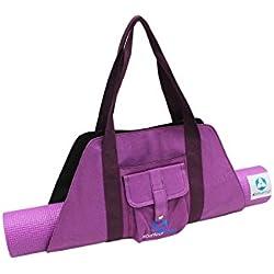 Bolsa de yoga »Sumantra« / Mochila de yoga para esterillas de yoga y pilates extragrandes de hasta 100 cm de ancho / violeta
